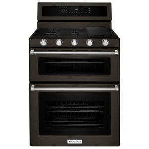 "KitchenAid KitchenAid Gas Ranges 30"" 5 Burner Gas Convection Double Oven"