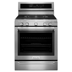 KitchenAid KitchenAid Gas Ranges 30-Inch 5 Burner Gas Convection Range