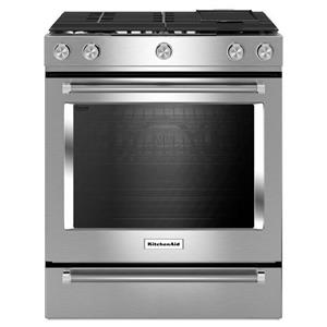 "KitchenAid KitchenAid Gas Ranges 30"" 5 Burner Gas Convection Slide-In Range"