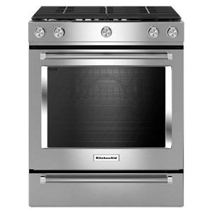 "KitchenAid KitchenAid Gas Ranges 30"" 5-Burner Gas Slide-In Convection Range"