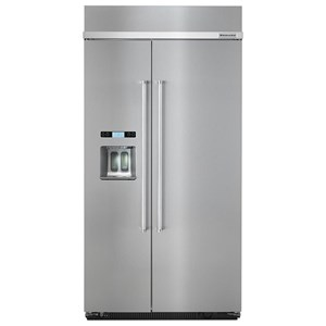"KitchenAid KitchenAid Side-by-Side Refrigerator 25.0 cu. ft 42"" Built-In Side by Side Fridge"