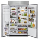 KitchenAid KitchenAid Side-by-Side Refrigerator 29.5 cu. ft 48-Inch Width Built-In Side by Side Refrigerator
