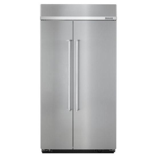 "KitchenAid KitchenAid Side-by-Side Refrigerator 42"" Width Built-In SideXSide Refrigerator - Item Number: KBSN602ESS"