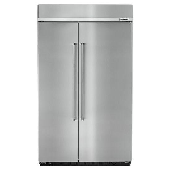 "KitchenAid KitchenAid Side-by-Side Refrigerator 30.0 cu. ft 48"" Side by Side Refrigerator - Item Number: KBSN608ESS"