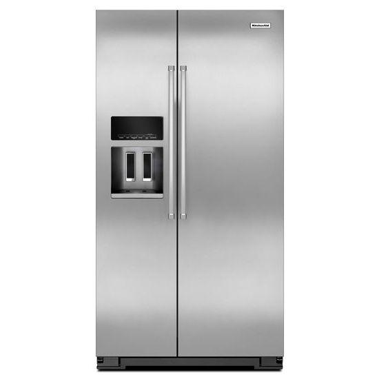 KitchenAid KitchenAid Side-by-Side Refrigerator 20 Cu. Ft. Side-by-Side Refrigerator - Item Number: KRSC500ESS