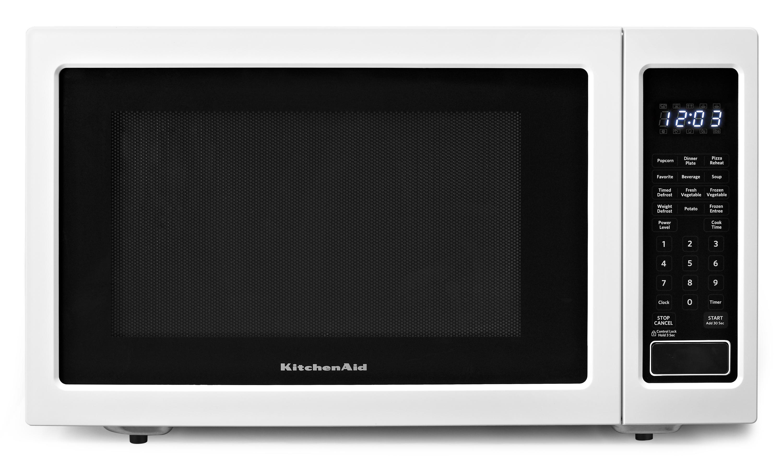 KitchenAid Microwaves 1.6 Cu. Ft. Countertop Microwave - Item Number: KCMS1655BWH