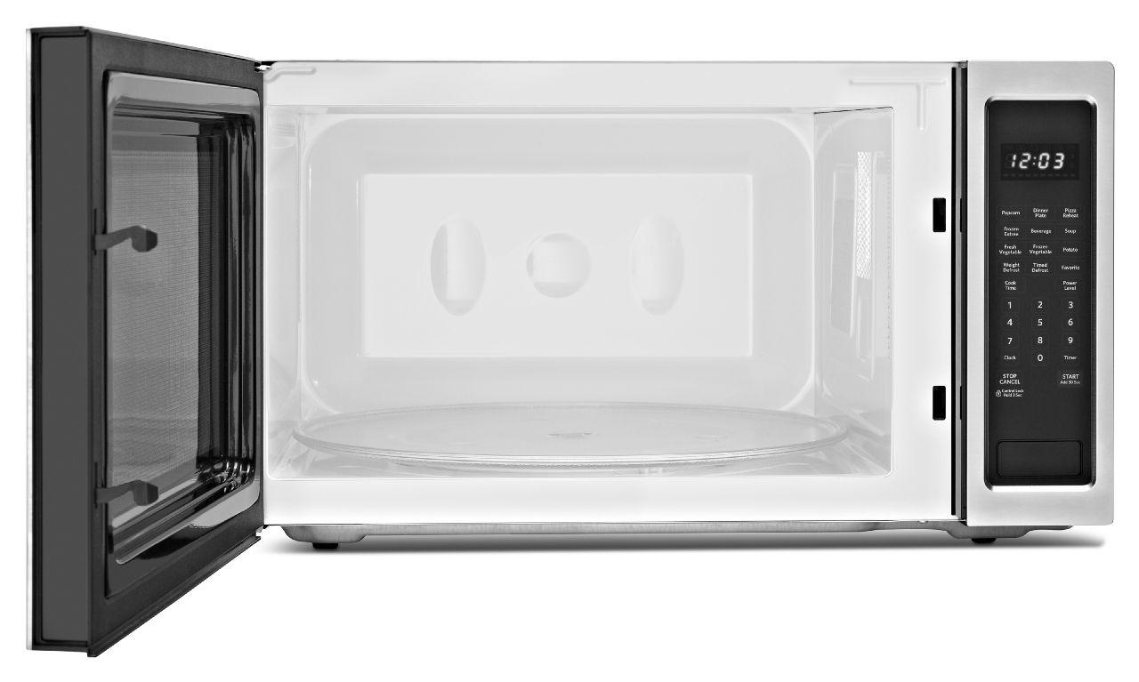 Kitchenaid Kcms2255bss2 2 Cu Ft Countertop Microwave Oven With 1200 Watts Of Power Furniture