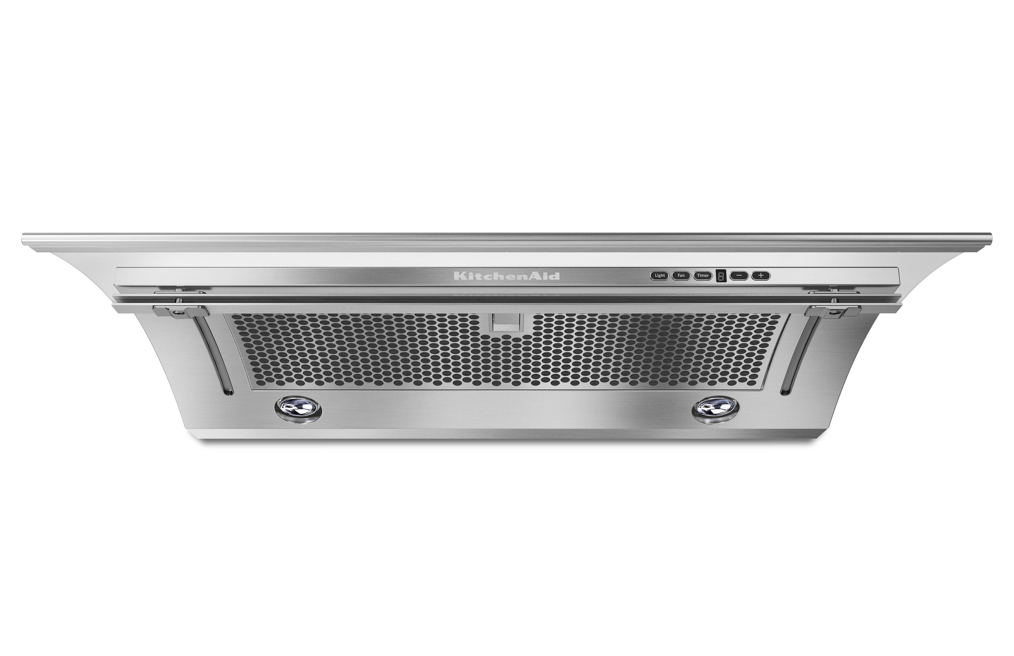 """KitchenAid Range Hoods 36"""" Slide-Out Range Hood - Item Number: KXU2836YSS"""