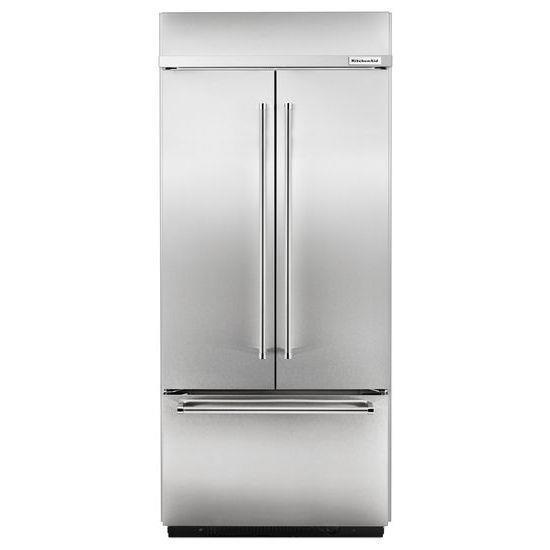 "Krfc300ebs Kitchenaid 20 Cu Ft 36 Width Counter Depth: KitchenAid KBFN406ESS20.8 Cu. Ft. 36"" Width Built In French Door Refrigerator With Preserva"