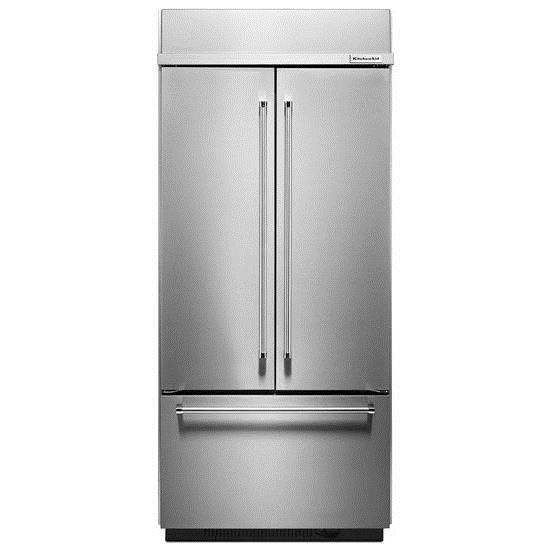 "KitchenAid Refrigerators - French Door 20.8 Cu. Ft. 36"" French Door Refrigerator - Item Number: KBFN506ESS"