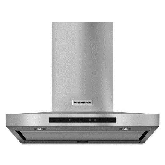 KitchenAid Vents and Hoods - 2014 30'' Wall-Mount, 3-Speed Canopy Hood - Item Number: KVWB600DSS