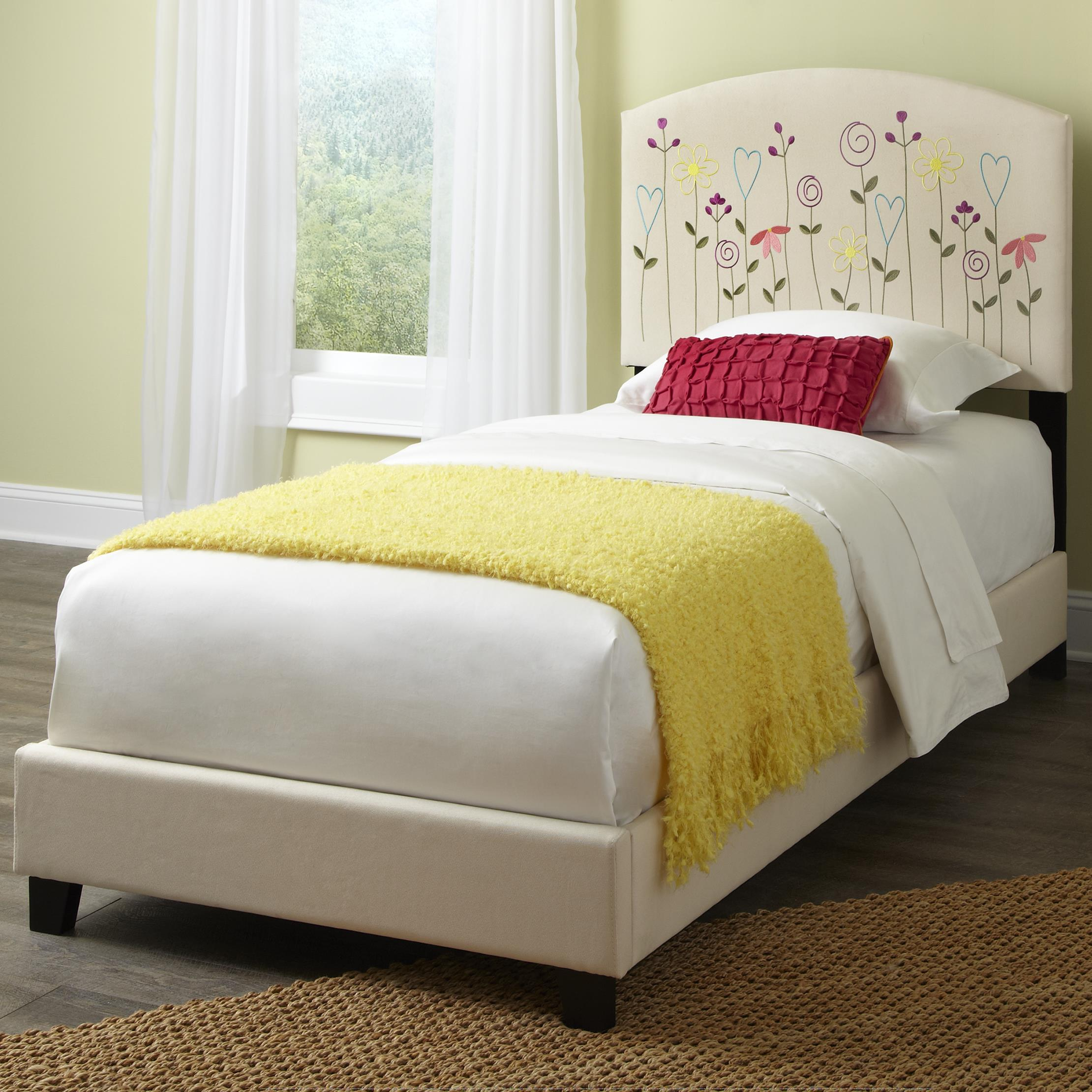 Kith Furniture Kourtney Twin Flower Headboard and Footboard - Item Number: 170-31+32