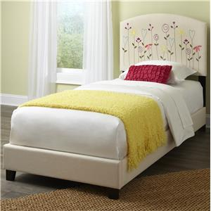 Kith Furniture Kourtney Twin Flower Headboard and Footboard