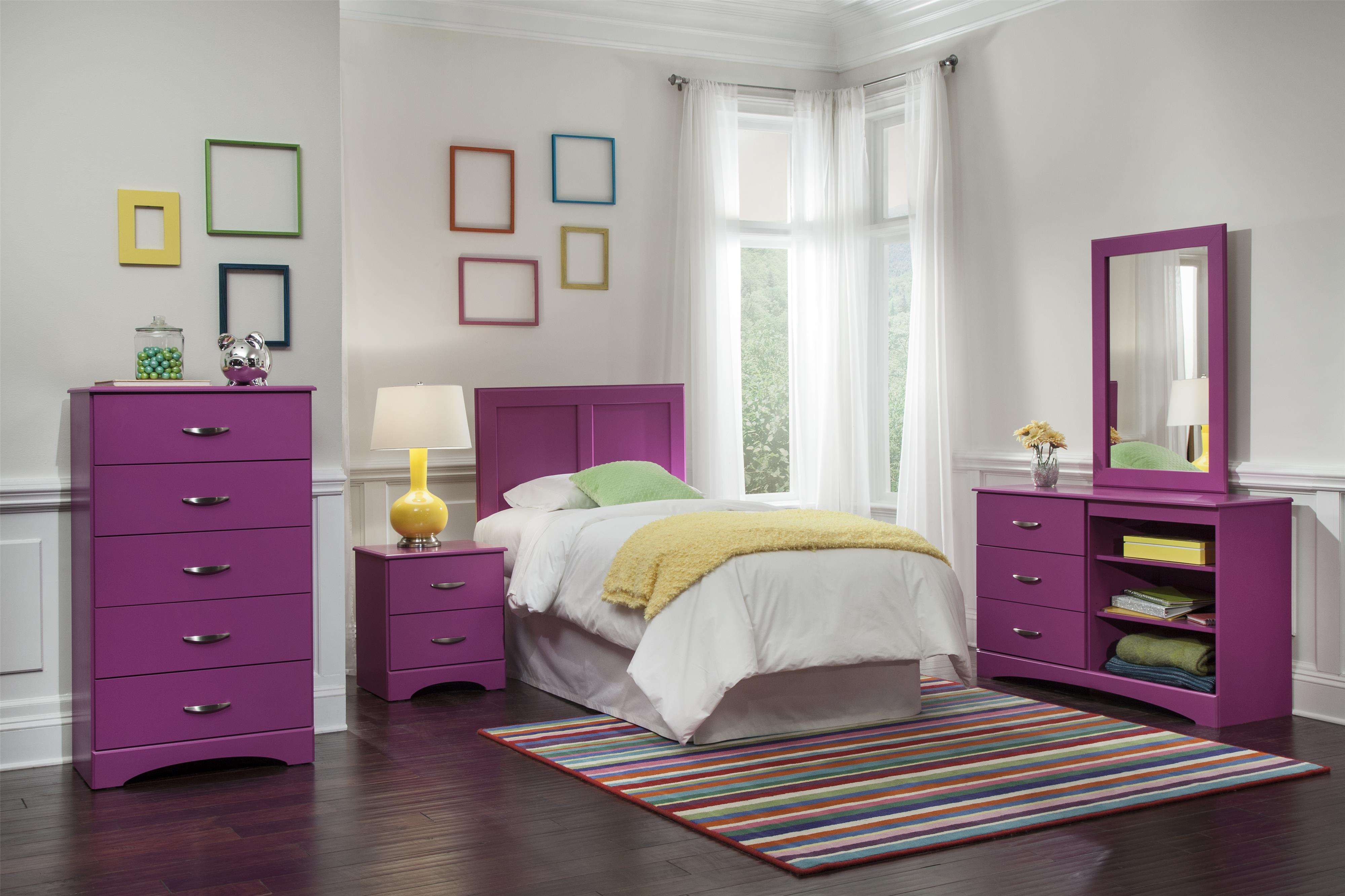 Kith Furniture 171 Raspberry Twin Bedroom Group - Item Number: 171 T Bedroom Group 1