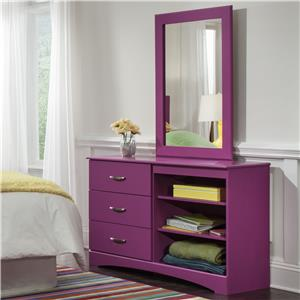 Kith Furniture 171 Raspberry Mirror and Dresser Set