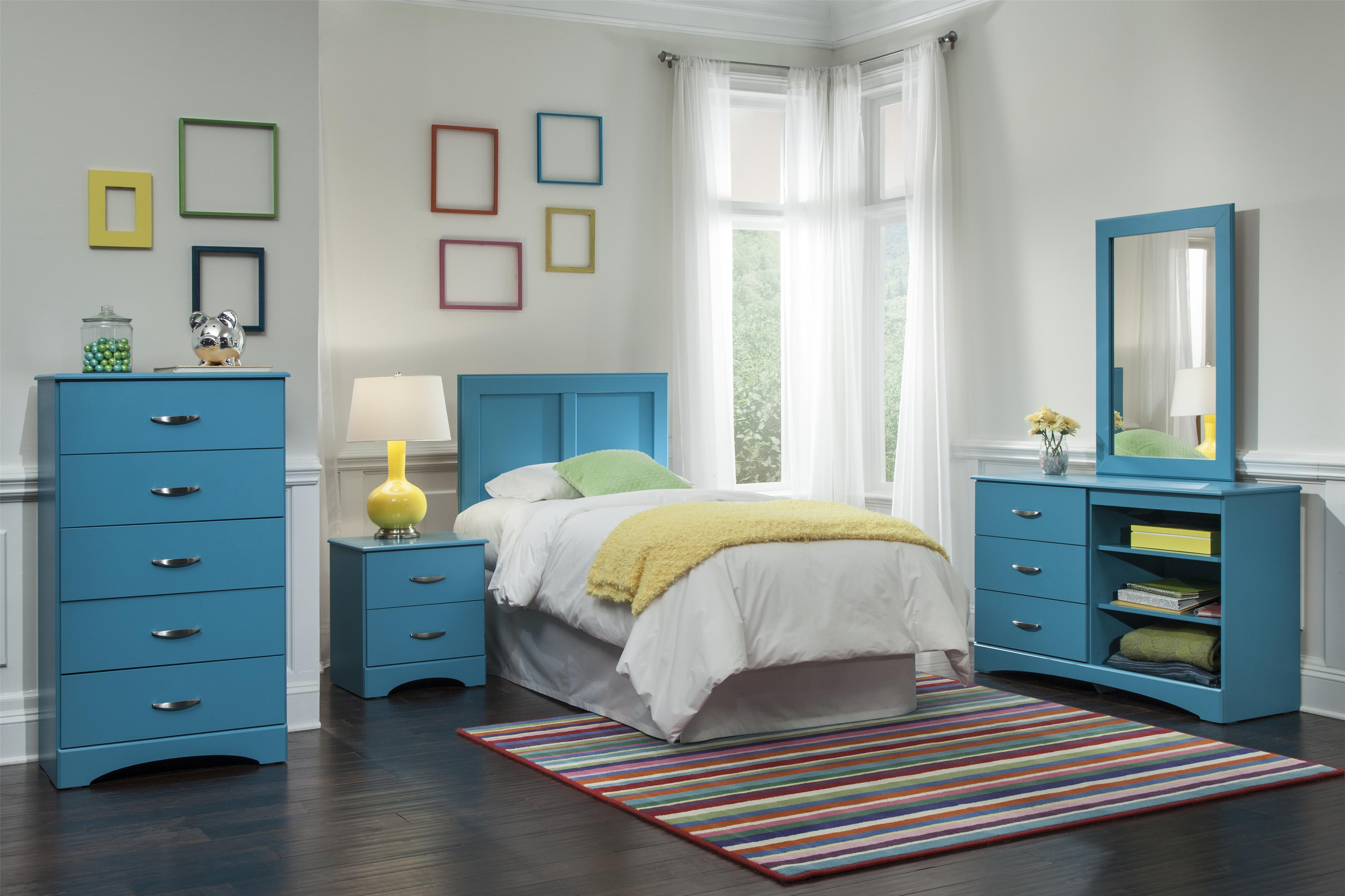 Kith Furniture 173 Turquoise Full Bedroom Group - Item Number: 173 F Bedroom Group 1