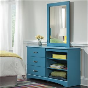 Kith Furniture 173 Turquoise Mirror and Dresser Set