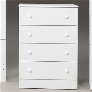 Kith Furniture 193 White 4 Drawer Chest