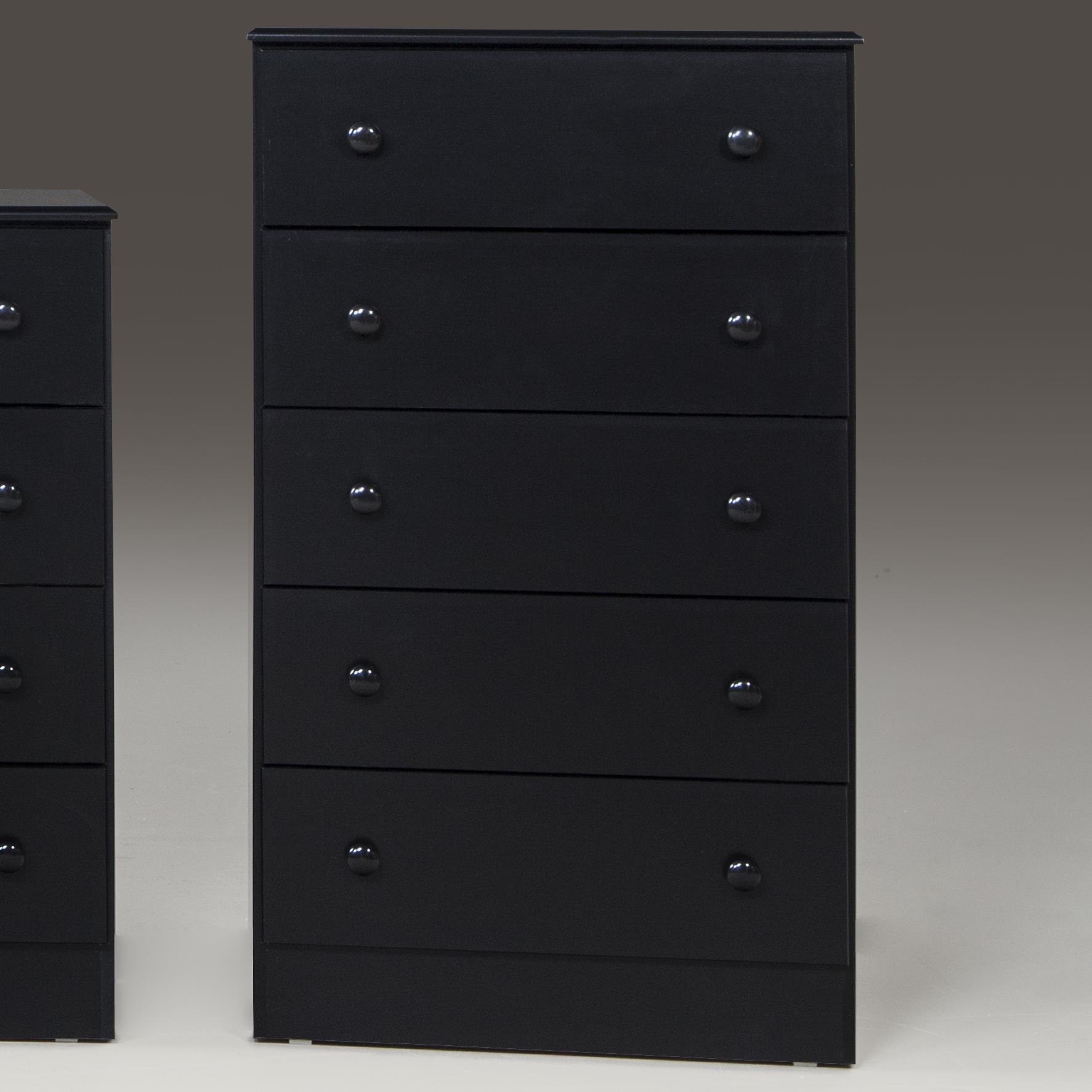 Black 5 Drawer Dresser