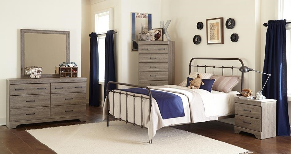 Kith Furniture Jourdan Creek Queen Bed with Rails, Dresser, Mirror & Nigh - Item Number: KITH-GRP-OT-232-QUEENSUITE