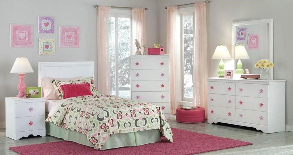 Kith Furniture Savannah Twin Headboard & Bed Frame, Dresser, Mirror  - Item Number: KITH-GRP-OT-269-TWINSUITE