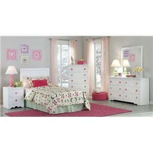 Kith Furniture Savannah Twin Headboard & Bed Frame, Dresser, Mirror