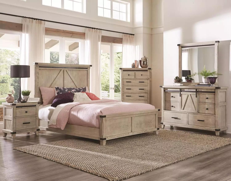 Gaines - Cream 5PC Queen Bedroom Set at Rotmans
