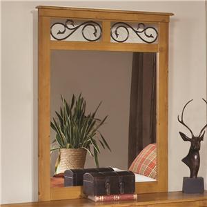 Kith Furniture Kenneth Creek Mirror with Metal Scroll Work
