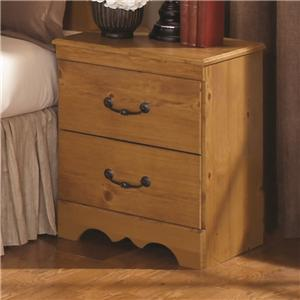 Kith Furniture Kenneth Creek 2 Drawer Nightstand with Curved Base Trim