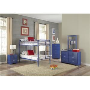 Blue Twin-Over-Twin Bunkbed