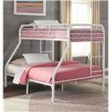 Kith Furniture Savannah White Twin/Full Bunk Bed - Item Number: 269-TF