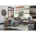 Klaussner  Jaxon Three Piece Sectional Sofa with Flared Arms and RAF Sofa Chaise