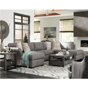 Klaussner Jaxon 3 Pc Sectional Sofa