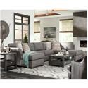 Klaussner Jaxon 3 Pc Sectional Sofa - Item Number: K15700L CHASE+AS+R SCHS-PORS SMOK