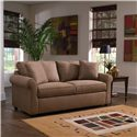Simple Elegance Sunburst Dreamquest Regular Sleeper Sofa with Rolled Arms - Sofa Shown May Not Represent Exact Features Indicated
