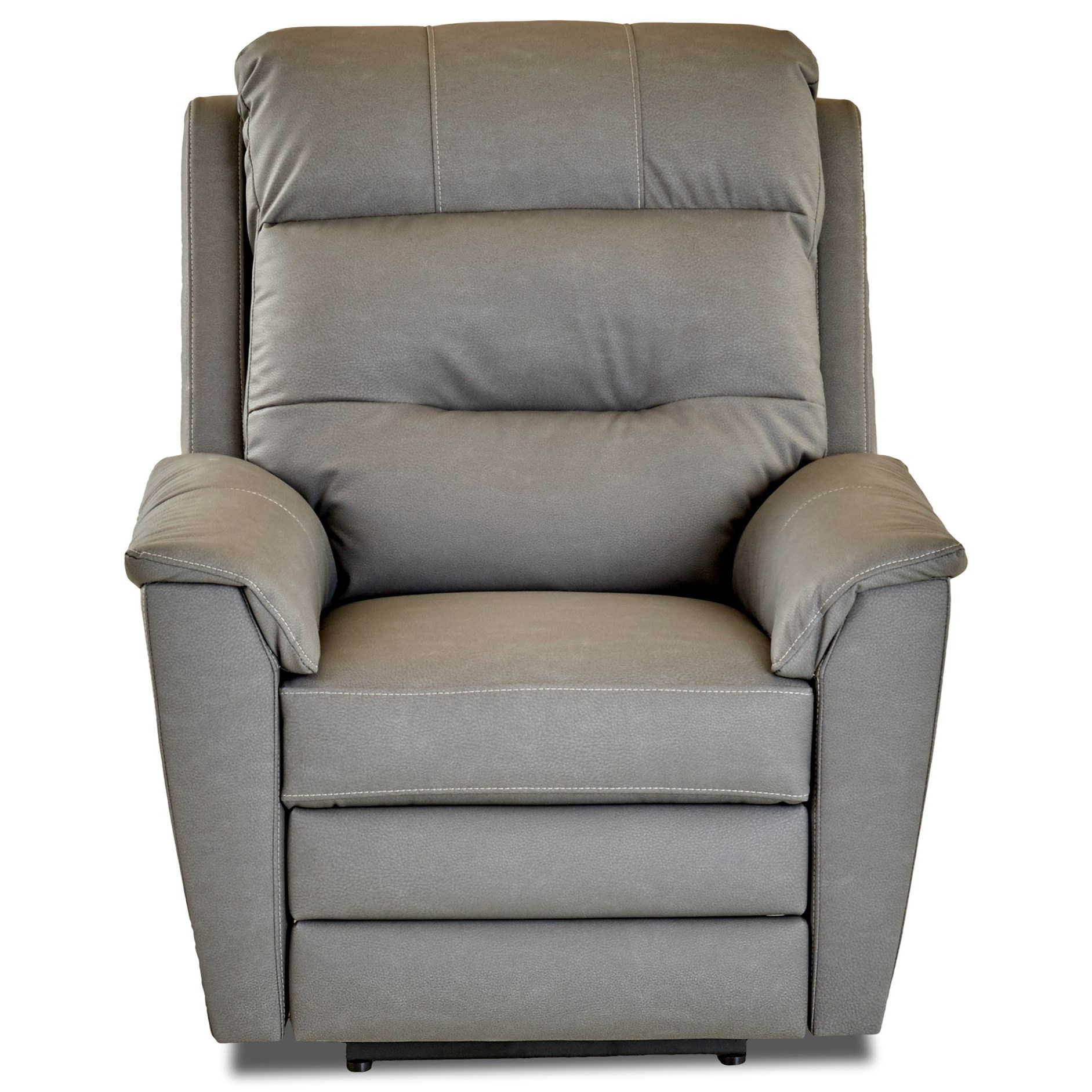 Klaussner Nola Pwr Rocking Recliner w/ Pwr Head and Lumbar - Item Number: 37343-8 PWRRC- Pompeii Lightgrey