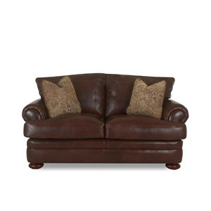 Elliston Place Montezuma Leather Loveseat