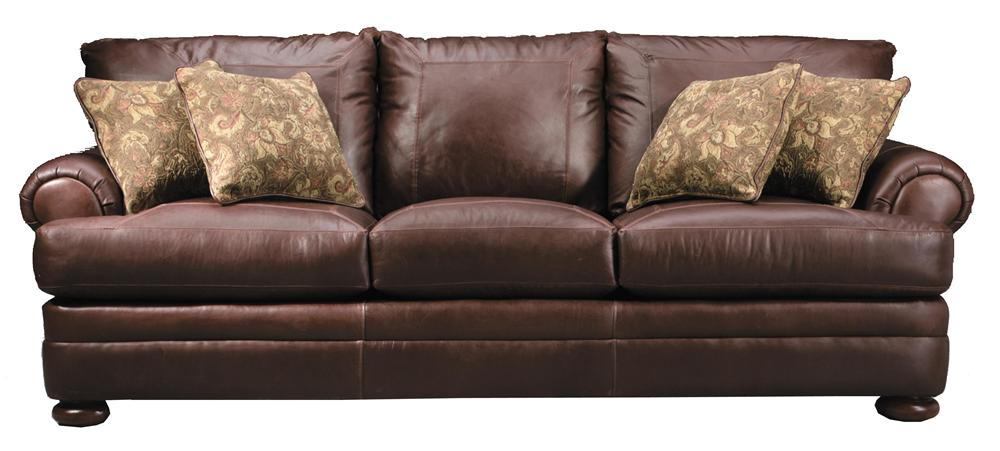Klaussner Montezuma Casual Style Leather Sofa With Bun