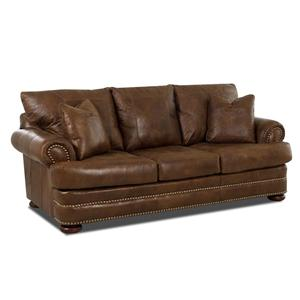 Elliston Place Montezuma Leather Studio Sofa