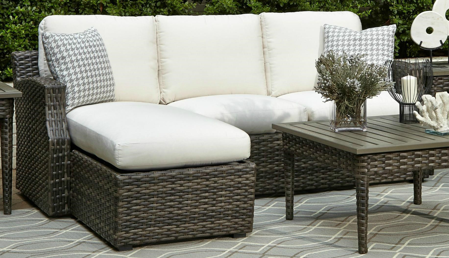 Elliston Place Tampa Tampa 2-Piece Outdoor Loveseat with Chaise - Item Number: 599868778