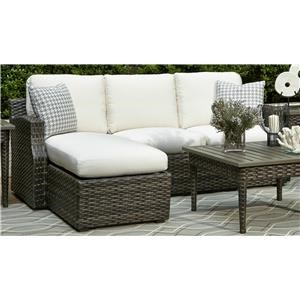 Elliston Place Tampa Tampa 2-Piece Outdoor Loveseat with Chaise