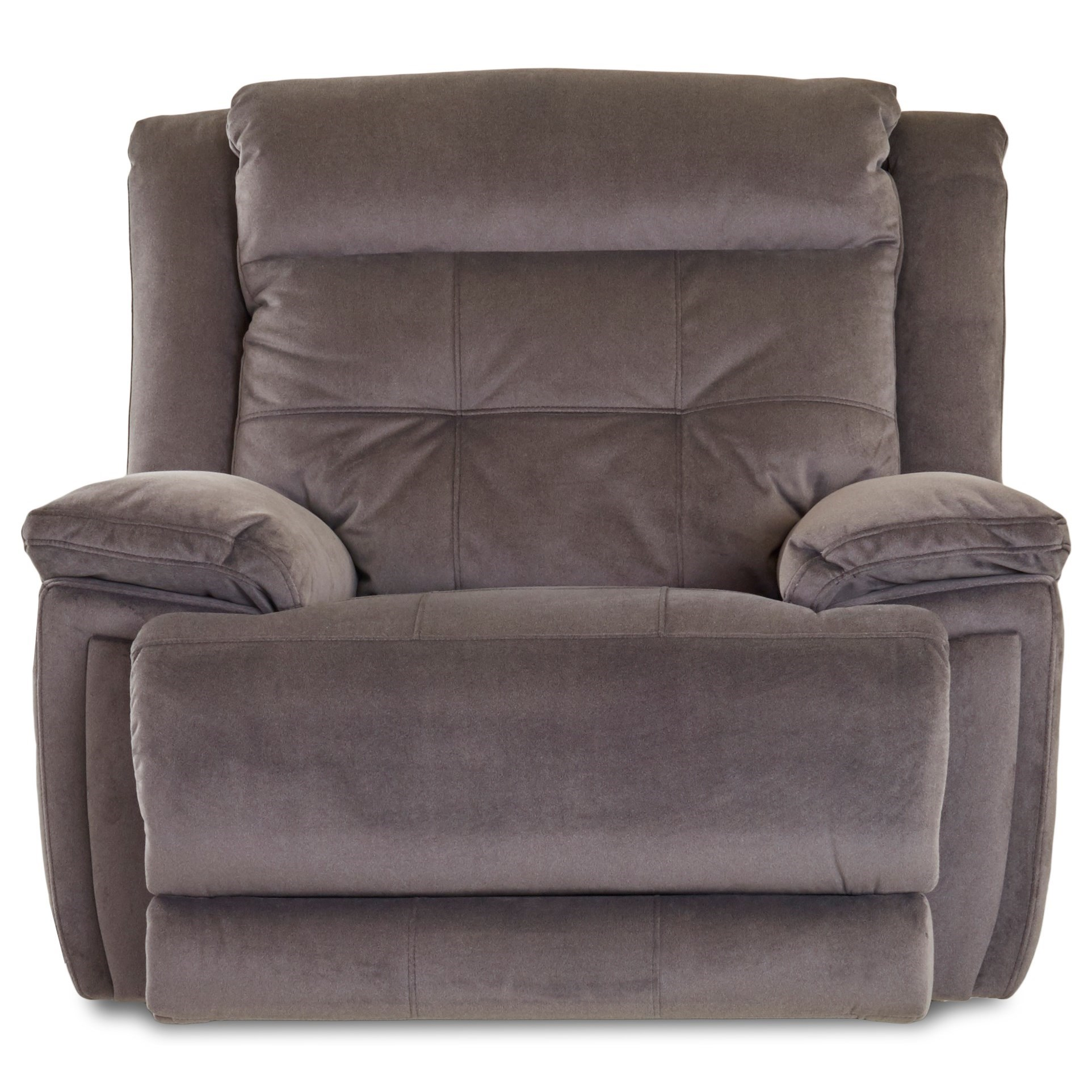 Klaussner McCall Power Rocking Recliner with Power Headrest - Item Number: 62543-6 PWRRC- Geordie Coal