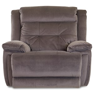 Klaussner McCall Power Recliner with Power Headrest/Lumbar