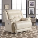 Klaussner McCall Casual Power Rocking Recliner with Power Headrest and USB Port - Recliner shown may not represent exact features indicated