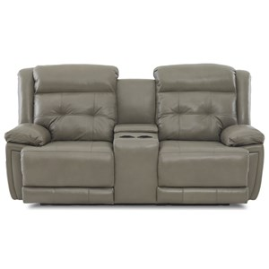 Klaussner McCall Power Reclining Loveseat w/ Headrest/Lumbar