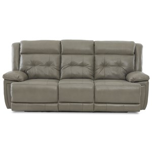 Klaussner McCall Power Reclining Sofa with Headrest/Lumbar