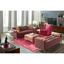 Klaussner Uptown Klaussner Tufted Seat Contemporary Sofa  - Fabric shown no longer available from manufacturer