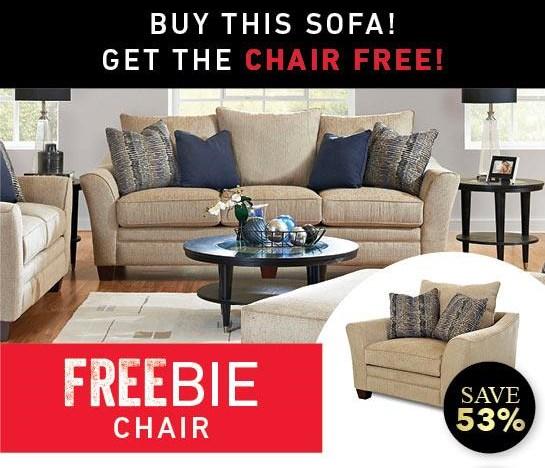 Felicity Sofa with Freebie Chair