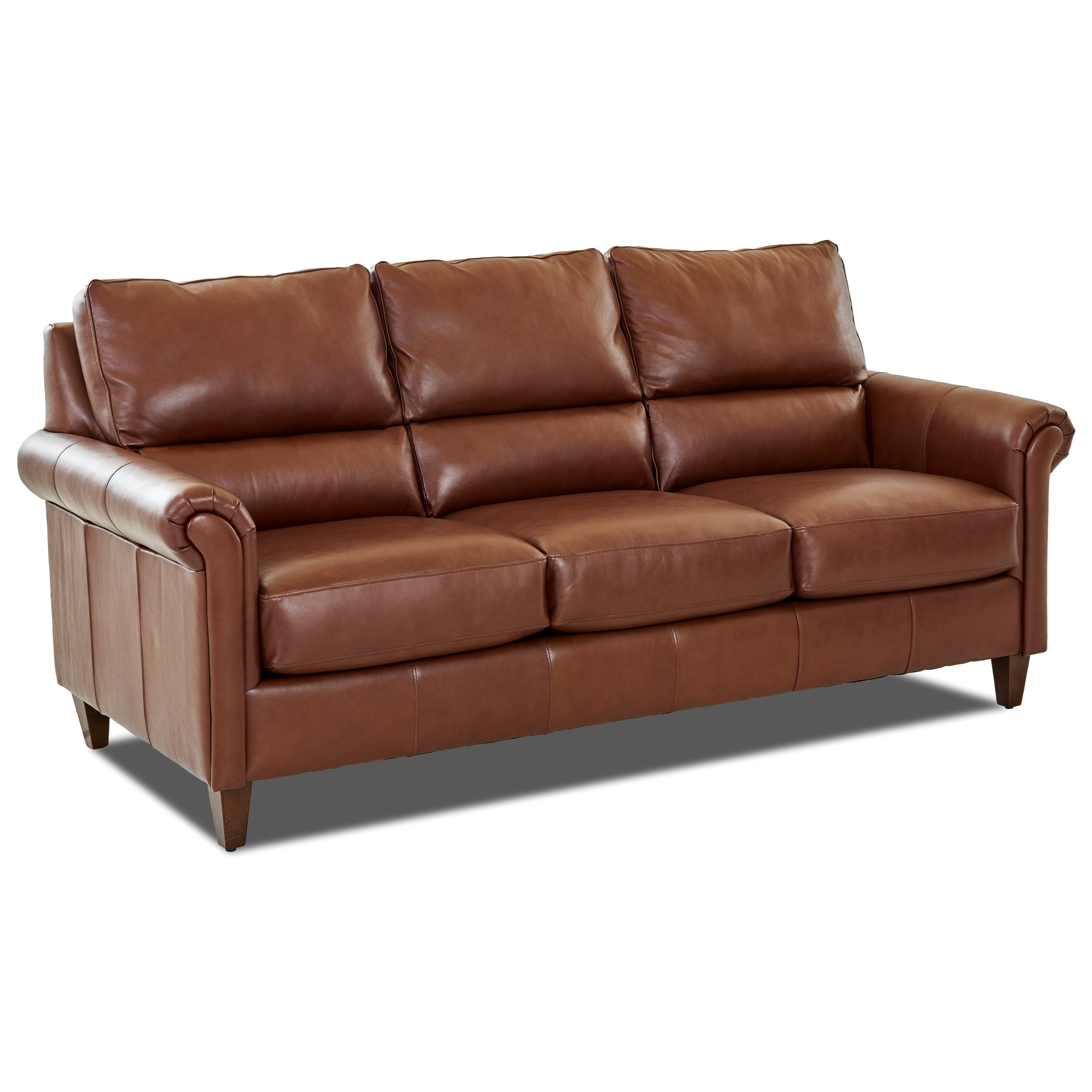 Klaussner Leather Sofa Review: Klaussner Adeline Transitional Leather Sofa With Pub Back