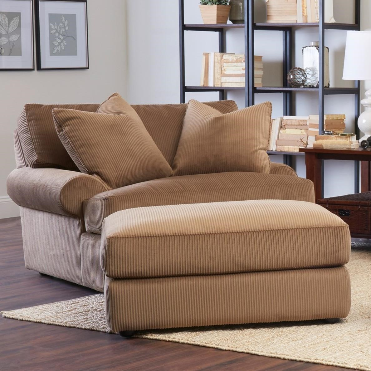 Klaussner Adelyn Oversized Chair And Ottoman Set Johnny